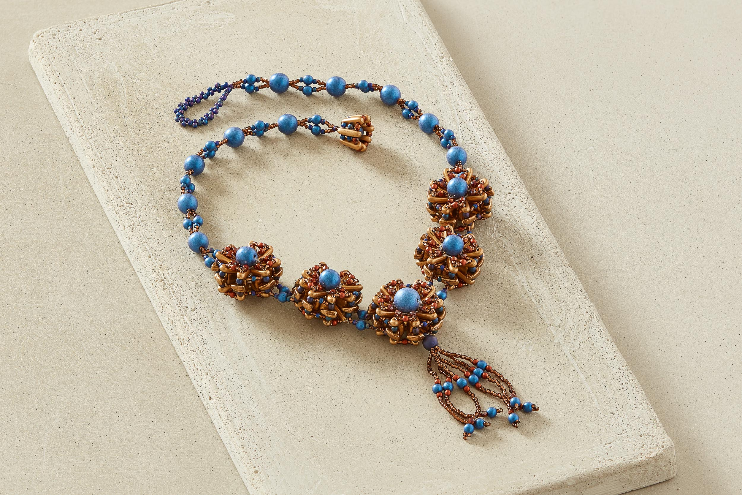 Jewelry Photography Blue Necklace